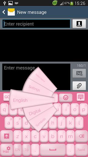 GO 키보드 소프트 핑크