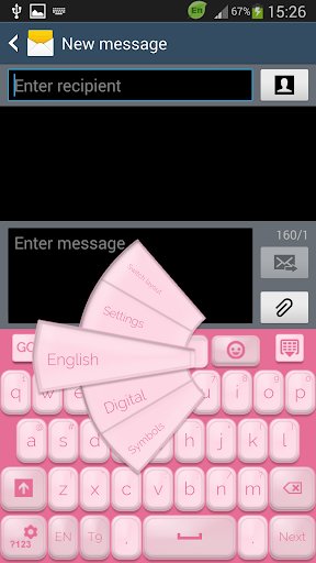 GO输入法柔和的粉红色