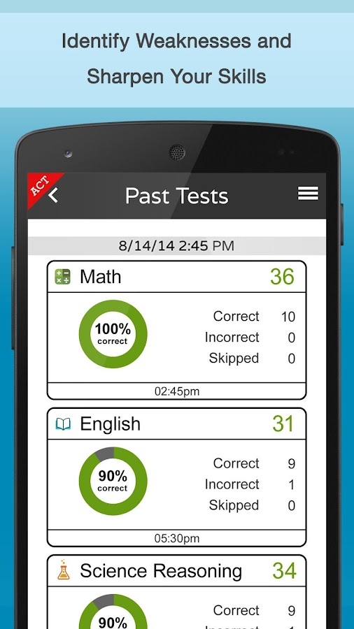 play2prep:ACT, SAT + PSAT prep - screenshot