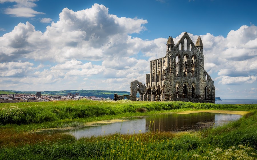 Whitby Abbey Ruins by Jack Brittain - Buildings & Architecture Public & Historical ( uk, england, yorkshire, whitby, ruins, landscape, abbey,  )