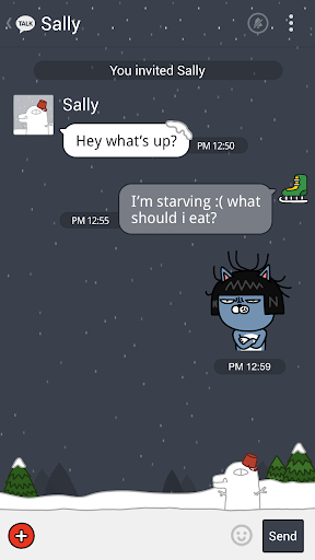 Winter Story - KakaoTalk Theme 7.0.0 screenshots 3
