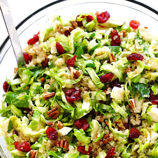 Brussels Sprouts, Cranberry and Quinoa Salad.