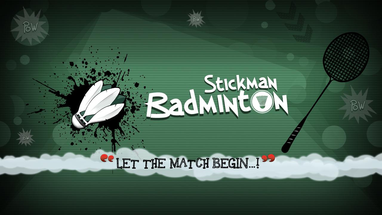 Stickman Badminton- screenshot