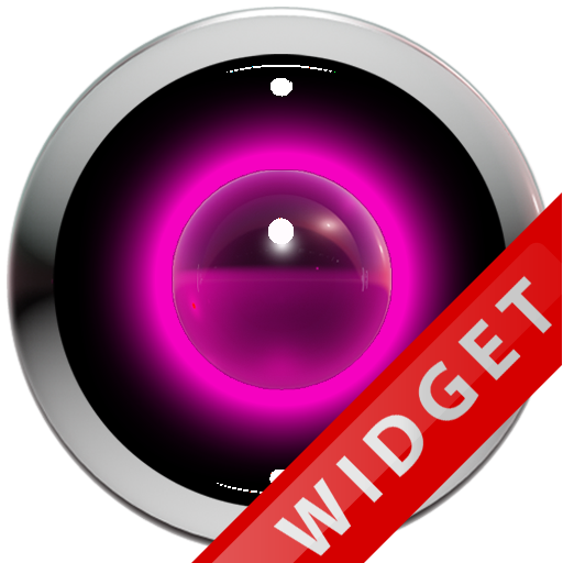 Poweramp Widget Pink Robot
