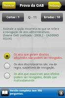 Screenshot of Prova da OAB Lite