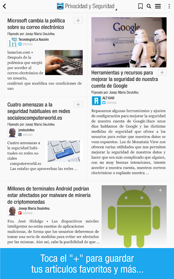 Flipboard: tu revista social - screenshot