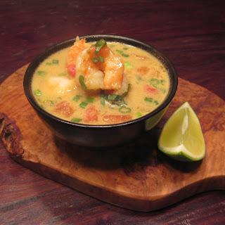 Coconut Curry Shrimp Soup.