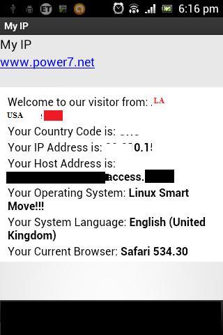 My IP - Network infos