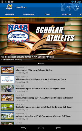 【免費運動App】Clarke University Athletics-APP點子