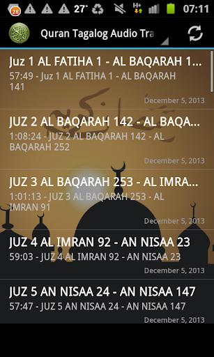 Quran Tagalog Translation MP3