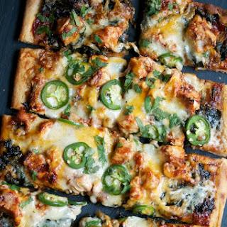 Barbecue Chicken & Cheddar Pizza.