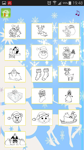 Xmax coloring  santa reindeers Screenshot