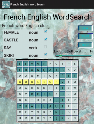 French English WordSearch