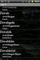 Screenshot of Dovahzul Dictionary