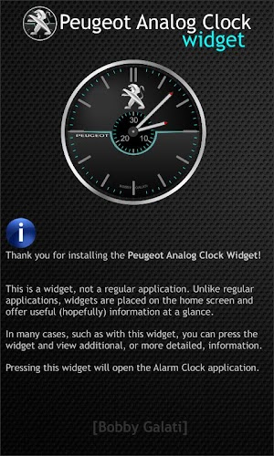 Peugeot Analog Clock Widget HD