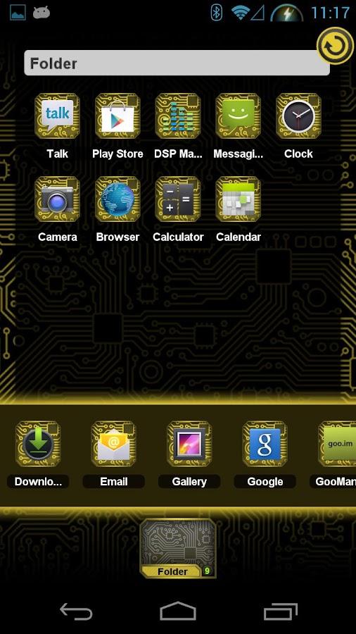 PCB Yellow HD TSF Shell Theme - screenshot
