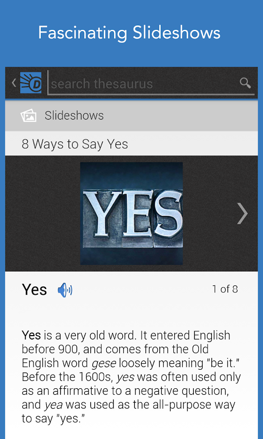 Dictionary.com - screenshot