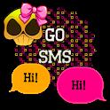 GO SMS - Girly Skulls 10 icon
