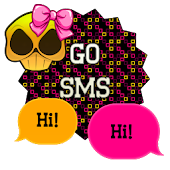 GO SMS - Girly Skulls 10