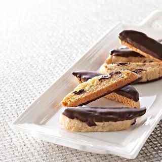 Chocolate, Orange, and Pistachio Biscotti.
