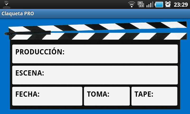 Claqueta PRO- screenshot