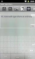 Screenshot of Walk Type Share