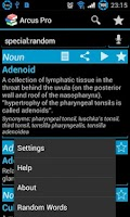 Screenshot of Arcus Dictionary Pro