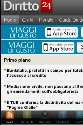 News Diritto- screenshot