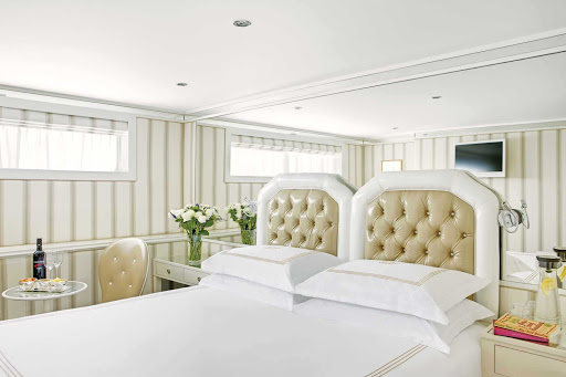 Uniworld-River-Duchess-stateroom - The River Duchess's classically designed staterooms will impress during your European voyage.