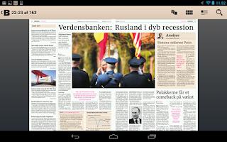 Screenshot of Børsen e-avis