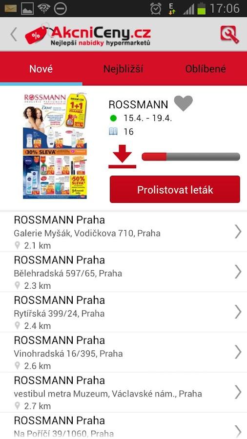 Akční ceny - screenshot