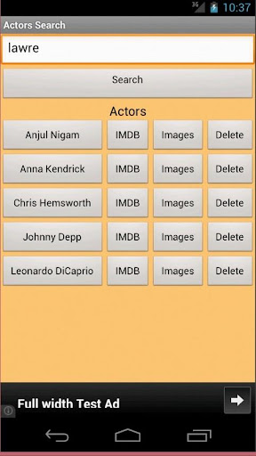 Actor Search