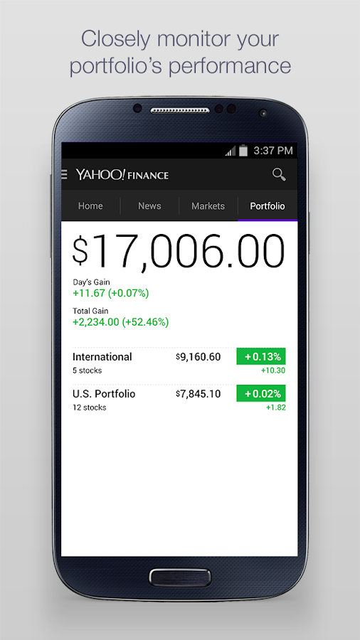 Yahoo Finance - screenshot