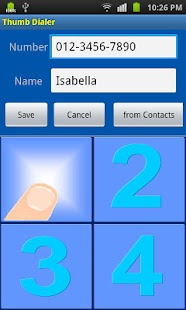 Thumb Dialer- screenshot thumbnail