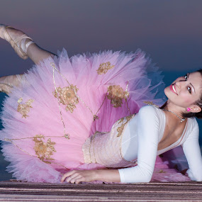 Waiting Ballerina by MIHAI CHIPER - People Portraits of Women