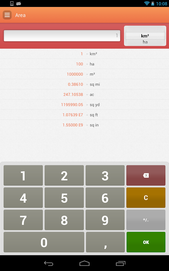 Unit Converter - screenshot