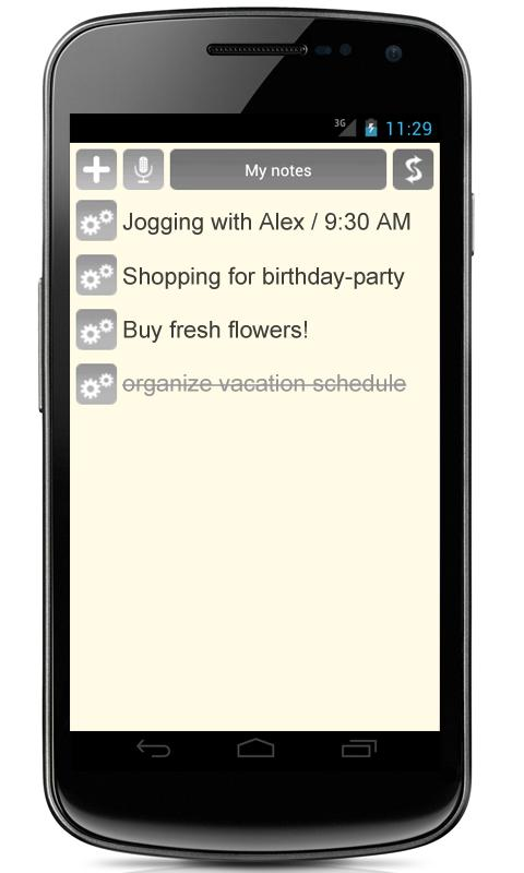 Notes + Voice + Widget - screenshot