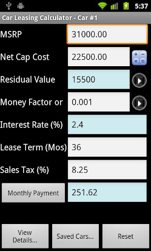 Car Lease Calculator Free