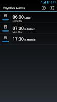 Screenshot of PolyClock™ World Clock