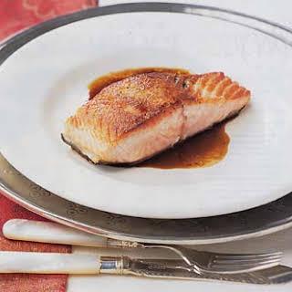 Seared Salmon with Balsamic Glaze.