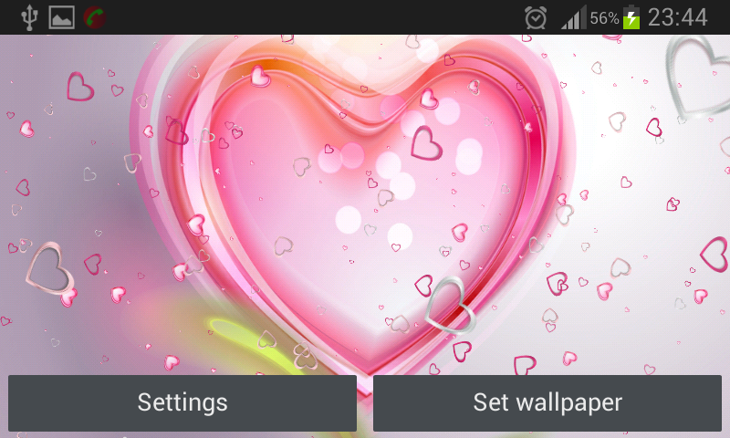Pink Hearts Live Wallpaper- screenshot