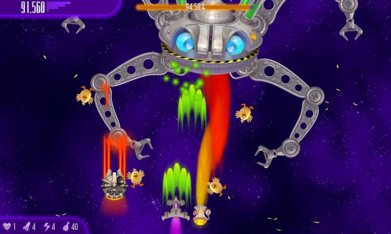 Chicken Invaders 4 HD (Tablet) - screenshot