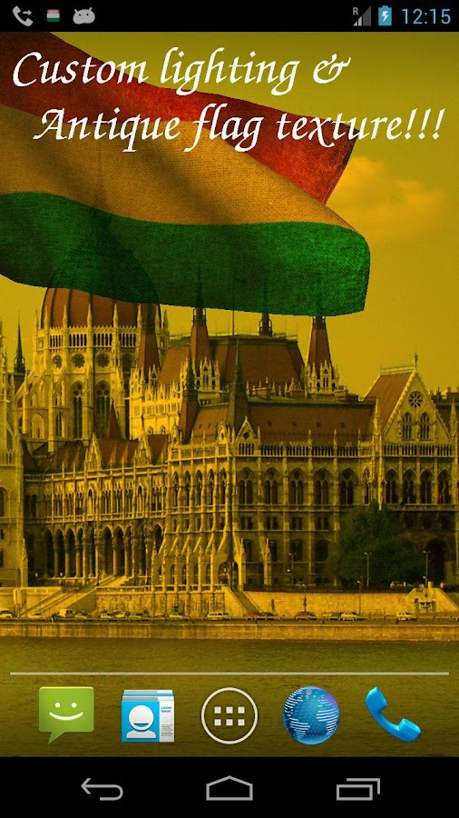 3D Hungary Flag Live Wallpaper - screenshot