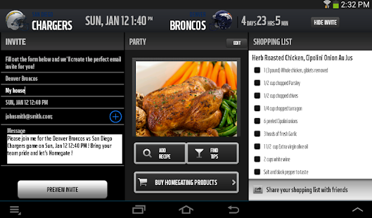 NFL Homegating - screenshot thumbnail