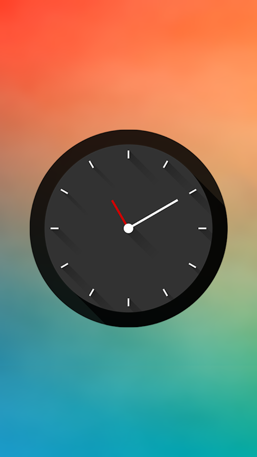 Long Shadows Clock - UCCW Skin - screenshot