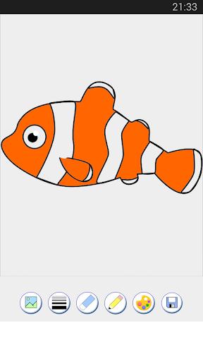 玩免費休閒APP|下載着色ゲーム 魚 app不用錢|硬是要APP