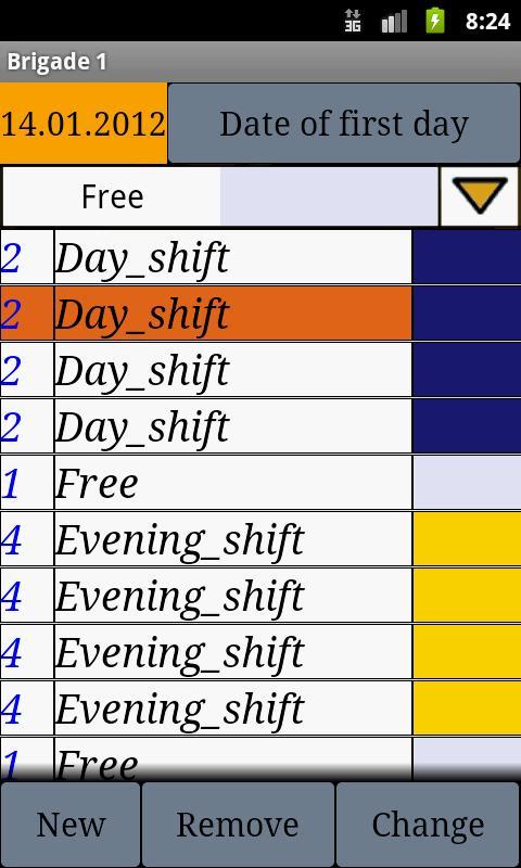 My Shift Calendar - screenshot