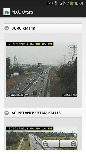 Plus Highway Traffic Status