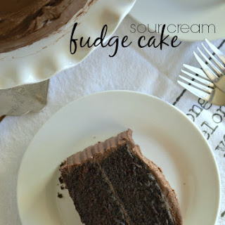 Sour Cream Fudge Cake
