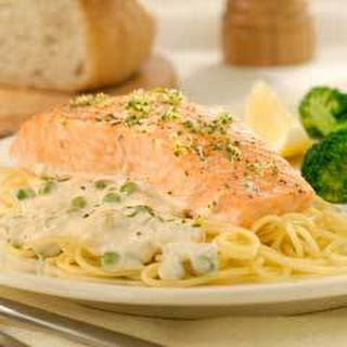 Salmon With Creamy Alfredo Sauce